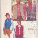SIMPLICITY VINTAGE 1973 PATTERN 5945 SZ 36 MEN'S VEST IN TWO VARIATIONS