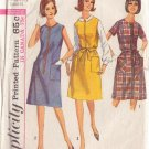 SIMPLICITY VINTAGE 1965 PATTERN 6095 SZ 20 1/2 MISSES' 1 PIECE DRESS OR JUMPER
