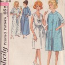 SIMPLICITY VINTAGE 5001 SIZE SMALL 10-12 MISSES' NIGHTGOWN, ROBE 2 LENGTHS