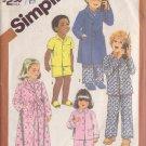 SIMPLICITY VINTAGE 1982 PATTERN 5803 SIZE 6 CHILD'S ROBE & PAJAMAS