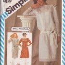 SIMPLICITY VINTAGE 1983 PATTERN 6155 SIZE 8 MISSES' TUCKED DRESS, SASH, SLIP