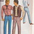 SIMPLICITY 1969 PATTERN 8300 SIZE 40 MEN'S WESTERN SHIRT, VEST, PANTS