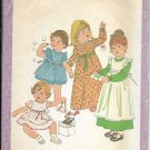 SIMPLICITY VINTAGE 1977 PATTERN 8279 SIZE 2 TODDLERS' DRESS & PINAFORE IN 2 LENGTHS