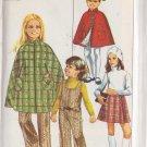 SIMPLICITY VINTAGE 1969 PATTERN 8424 SIZE 4 GIRL'S PANTJUMPER CAPE WRAP SKIRT