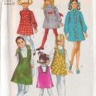 SIMPLICITY VINTAGE 1969 PATTERN 8426 SIZE 8 GIRL'S DRESS OR SLIP-DRESS & JUMPER