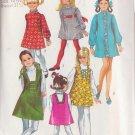 SIMPLICITY VINTAGE 1969 PATTERN 8426 SIZE 10.5 GIRL'S DRESS OR SLIP-DRESS & JUMPER