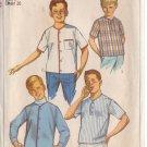 SIMPLICITY VINTAGE 1965 PATTERN 6285 SIZE 12 BOY'S SPORT SHIRT & SHIRT-JACKET
