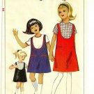 SIMPLICITY VINTAGE 1965 PATTERN 6288 SIZE 10 GIRLS' JUMPER & BLOUSE
