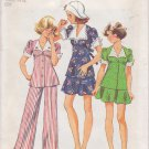 SIMPLICITY VINTAGE 1974 PATTERN 6245 SIZE 10 GIRLS,2 PIECE OR TOP & PANTS