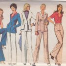 SIMPLICITY VINTAGE 1974 PATTERN 6285 SIZE 16 MISSES DBL BREASTED CARDIGAN BLOUSE & PANTS