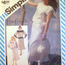 SIMPLICITY VINTAGE PATTERN 6317 SIZE 10 MISSES 2 PIECE DRESS WITH BIAS SKIRT