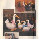 "SIMPLICITY VINTAGE 1984 CRAFT PATTERN 6721 STUFFED GOOSE 18"" AND 11"""