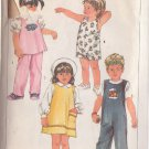 SIMPLICITY 1984 VINTAGE PATTERN 6730 SIZE 4 CHILD'S SUNDRESS, JUMPER, TOP, OVERALLS, PANTS