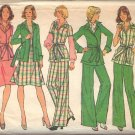 SIMPLICITY VINTAGE 1974 PATTERN 6857 SIZE 16 MISSES FRONT WRAPPED JACKET SKIRT PANTS