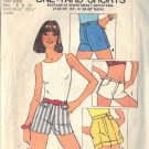 SIMPLICITY VINTAGE 1975 PATTERN 6946 SIZE 9 & 11 MISSES ONE YARD SHORTS
