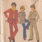 SIMPLICITY VINTAGE 1975 PATTERN 7036 SIZE 6 BOYS LEISURE SUIT