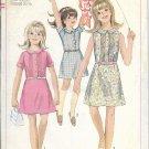 SIMPLICITY 1967 VINTAGE PATTERN 7110 SIZE 10 1/2c GIRLS' 1 PIECE DRESS