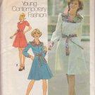 SIMPLICITY VINTAGE 1975 PATTERN 7130 SIZE 14 MISSES DRESS 2 LENGTHS