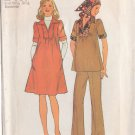 SIMPLICITY VINTAGE 1975 PATTERN 7153 SIZES 6 & 8 MISSES' MATERNITY DRESS OR TOP PANTS SCARF