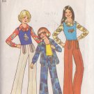 SIMPLICITY VINTAGE 1975 PATTERN 7201 SIZE 14 GIRL'S SHIRT, PULLOVER TOP, PANTS
