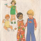 SIMPLICITY PATTERN 7322 SIZE 2 TODDLERS' JUMPSUIT IN 2 LENGTHS, SHIRT