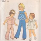 SIMPLICITY VINTAGE 1976 PATTERN 7365 SIZE 1 TODDLER DRESS TOP PANTS