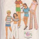 SIMPLICITY PATTERN 7511 SIZE 7 CHILD'S PULLOVER TOP, SHIRT, HIP HUGGER PANTS, SHORTS