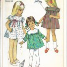 SIMPLICITY PATTERN 7516 SIZE 3 CHILD'S DRESS IN 3 VARIATIONS