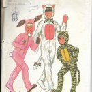 Simplicity pattern 7683, dated 1976, Size 6 rabbit, cat, tiger & sleeper