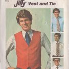 SIMPLICITY VINTAGE 1976 PATTERN 7701 SIZE 36 MEN'S VEST AND TIE