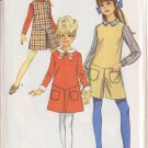 SIMPLICITY VINTAGE 1968 PATTERN 7793 SIZE 10 GIRLS' DRESS,JUMPER, PANTJUMPER