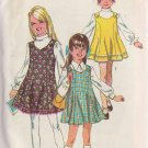 SIMPLICITY PATTERN 8423 SIZE 8 FOR GIRL'S JUMPER IN 3 VARIATIONS