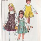 SIMPLICITY PATTERN 8423 SIZE 10 FOR GIRL'S JUMPER IN 3 VARIATIONS