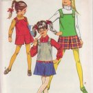 SIMPLICITY PATTERN 8422 SIZE 8 FOR GIRL'S JUMPER AND MINI PANTJUMPER