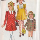 SIMPLICITY VINTAGE 1969 PATTERN 8421 SIZE 8 GIRLS' DRESS 3 VARIATIONS