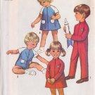 SIMPLICITY VINTAGE 1969 PATTERN 8472 SIZE 1 TODDLER DRESS, JUMPSUIT