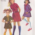 SIMPLICITY VINTAGE 1969 PATTERN 8476 SIZE 10 GIRLS' DRESS IN 3 VARIATIONS