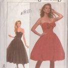 SIMPLICITY 8482 SIZE 8 PATTERN MISSES' COCKTAIL DRESS IN 2 LENGTHS