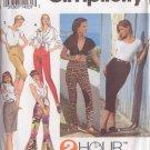 SIMPLICITY 8497 SIZE XS/MD PATTERN MISSES' SKIRT, LEGGINGS, STIRRUP PANTS