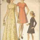 SIMPLICITY 8498 SIZE 12 PATTERN MISSES' DRESS IN TWO LENGTHS