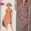SIMPLICITY 8501 SIZE 10 PATTERN MISSES' DESIGNER DRESS AND JACKET UNCUT