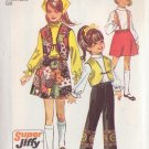 SIMPLICITY PATTERN 8526 SIZE 10 FOR GIRL'S SKIRT, VEST, PANTS
