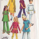 SIMPLICITY PATTERN 8527 SIZE 10 FOR GIRL'S DRESS 2 STYLES, TUNIC 4 STYLES, PANTS