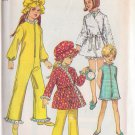 SIMPLICITY PATTERN 8528 SIZE 10 FOR GIRL'S SLEEP SUIT 2 LENGTHS, ROBE, HAT