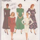 SIMPLICITY PATTERN 8537 SIZES 6-10 MISSES DRESS WITH SLIM OR FULL SKIRT