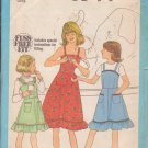 Simplicity pattern 8544, dated 1978, for child's sundress or jumper in size 10