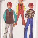 Simplicity pattern 8558, dated 1969, for size 8 bell bottom pants and vests