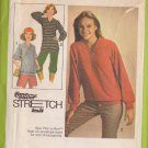 SIMPLICITY PATTERN 8618 SIZES 10/12/14  MISSES PULLOVER TOP IN 2 LENGTHS