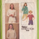 SIMPLICITY PATTERN 8661 SIZES 10/12/14 MISSES' PULLOVER TOPS IN 3 VARIATIONS