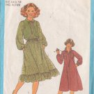 SIMPLICITY PATTERN 8703 SIZES 5/6 + 7/8  YOUNG JUNIOR/TEEN DRESS, VEST